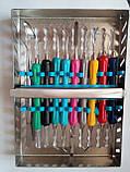 Набір для пломбування з 9 предметів з силіконовими ручками, фото 2
