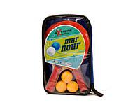 Теннис настольный r07426 2 ракетки + 3 мячика в чехле