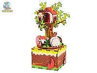 Музыкальная шкатулка Robotime Сделай сам Домик на дереве