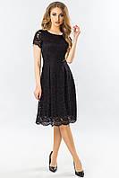 Черное платье с гипюром, фото 1