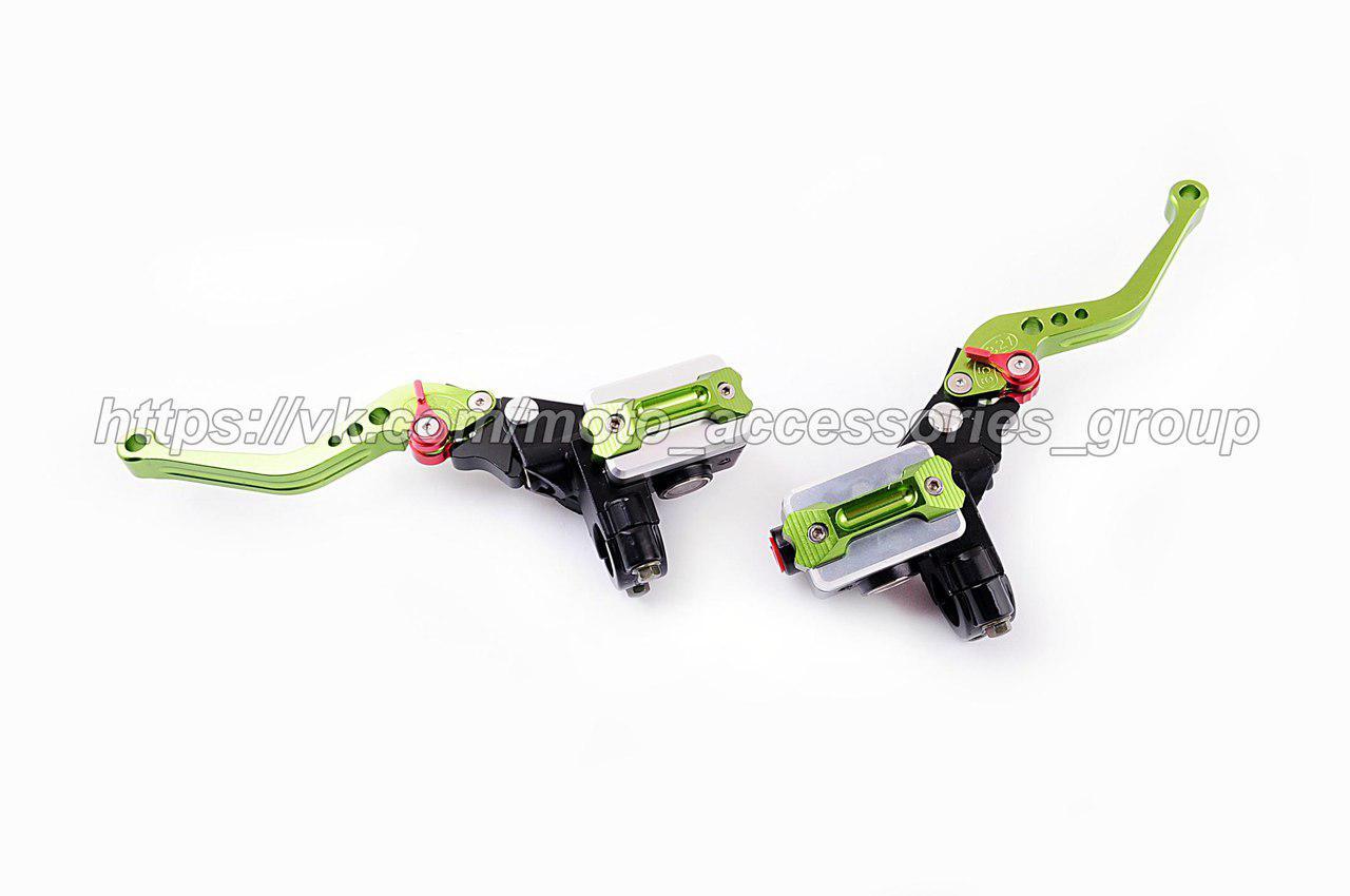Комплект гидравлических машинок с регулируемыми ручками Зеленый
