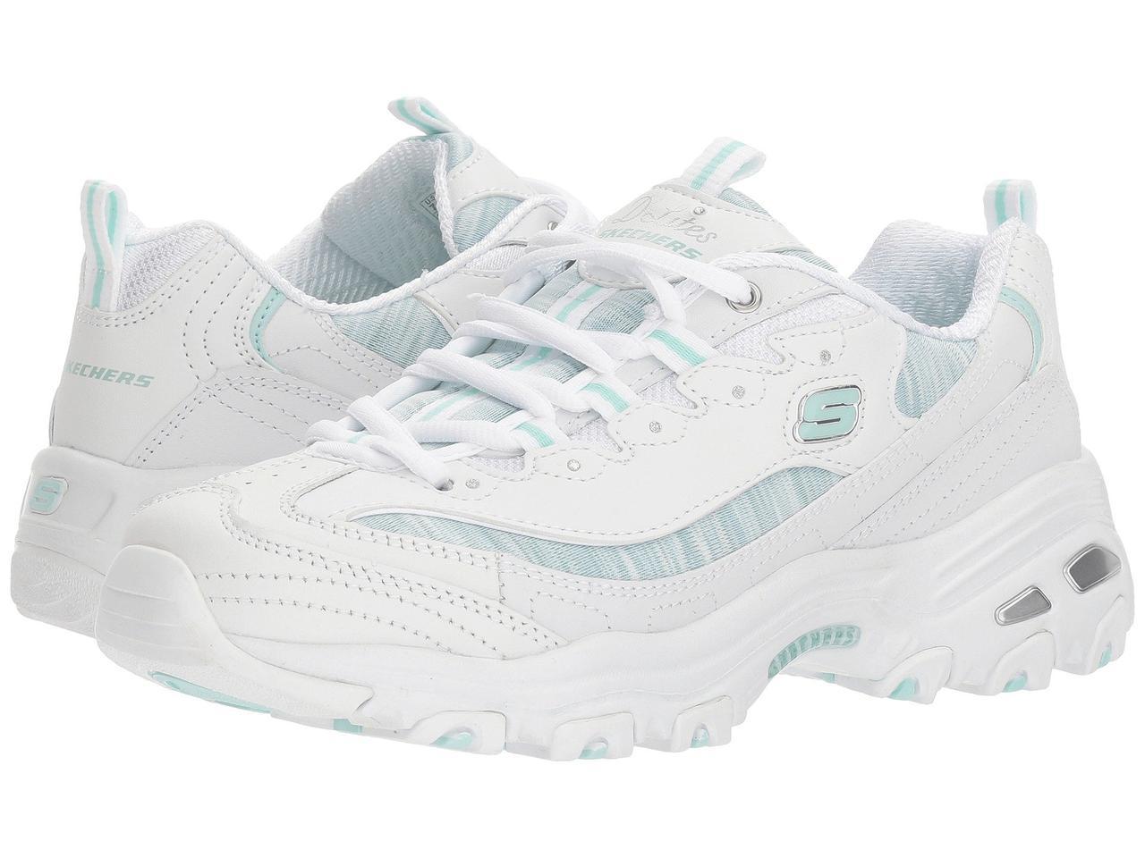 326342190 Кроссовки/Кеды (Оригинал) SKECHERS D'Lites - Water Colors White/Mint ...