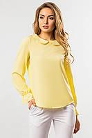 Блузка с круглым воротником желтого цвета, фото 1