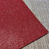 Глиттерный фоамиран красный