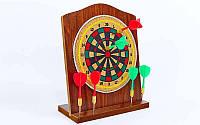 Мишень для игры в дартс настольная из прессованной бумаги Baili 401: диаметр 16см, 6 дротиков, фото 1