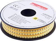 """Маркер кабельный e.marker.stand.0.1.5.0, 0-1,5 кв.мм, """"0"""", 1000 шт"""