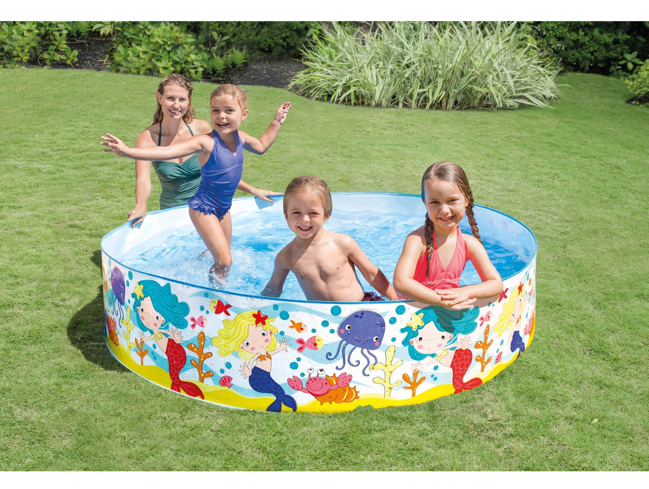 Детский каркасный бассейн Intex (интекс) 58458 Русалочки, 183х38см