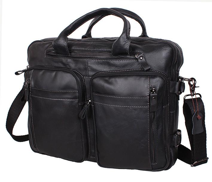 0444b5aa00c0 Мужская сумка кожаная PRE1710 черная через плечо для документов А4 ноутбука  39х31см - Интернет-магазин
