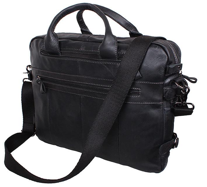 5e3e21133027 ... Мужская сумка кожаная PRE1710 черная через плечо для документов А4  ноутбука 39х31см, ...
