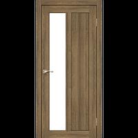 Дверь TORINO TR-03. Со стеклом сатин (дуб браш, эш-вайт). KORFAD (КОРФАД)