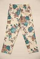 """Лосины для девочки """"бирюзовые цветы"""", размер 5-6,8-9,9-10"""