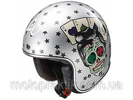 LS2 OF583 TATTOO, GLOSS SILVER, S, Мотошлем лицевик