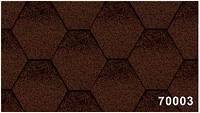 Битумная гибкая черепица, Kerabit  Керабит, коллекция Тройка К+, цвет коричнево-черный