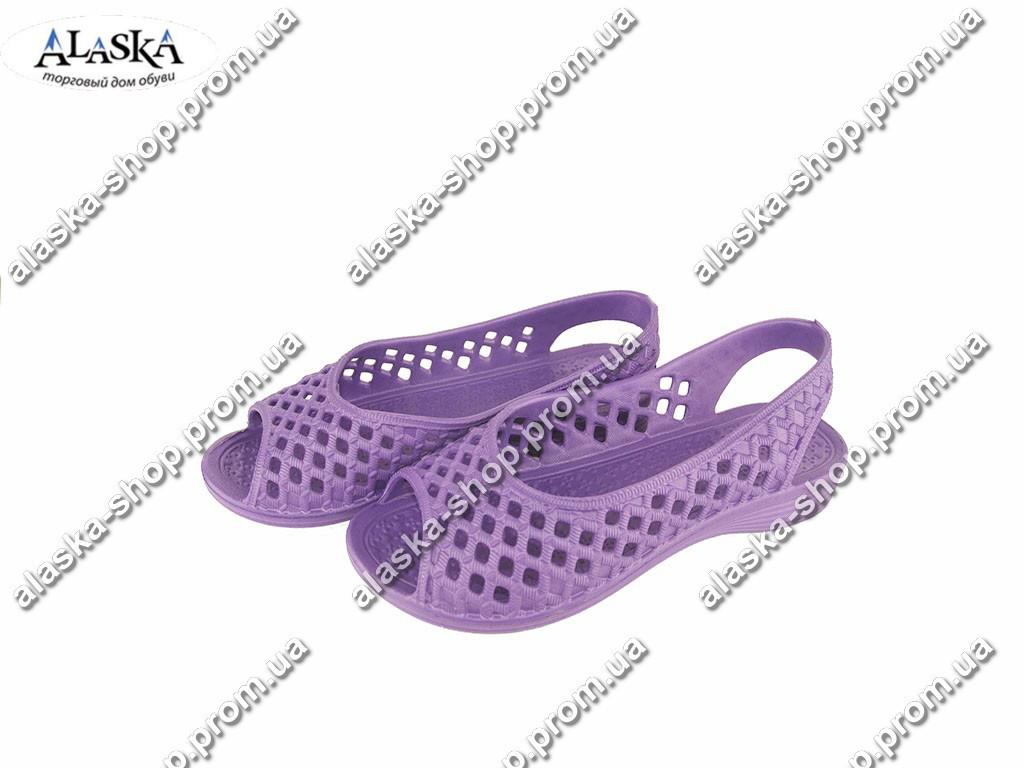 Женские шлепанцы-лодочки (Код: С-36 Крок фиолет )