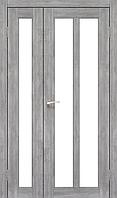 Дверь TORINO  TR-04. Со стеклом сатин (эш-вайт,дуб браш,ясень белый). KORFAD (КОРФАД)