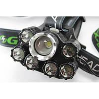 Фонарик налобный фонарь Bailong BL-T78-T6+4Q5+2UV Хит продаж!