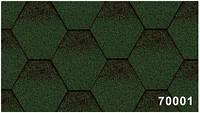 Битумная гибкая черепица, Kerabit  Керабит, коллекция Тройка К+, цвет зелено-черный