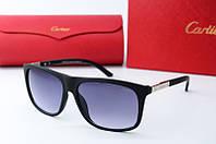 Солнцезащитные очки прямоугольные Cartier черные, фото 1