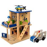 Деревянный конструктор Полицейский участок, гараж