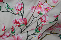 Ткань шелк армани фон беж ( не плотный цвет)