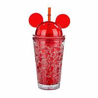 Бутылка для воды Микки Маус Ice Cup 450 мл красная