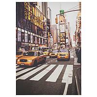 """ИКЕА """"ПЬЕТТЕРИД"""" Картина, Нью-Йоркское такси, 70x100 см."""