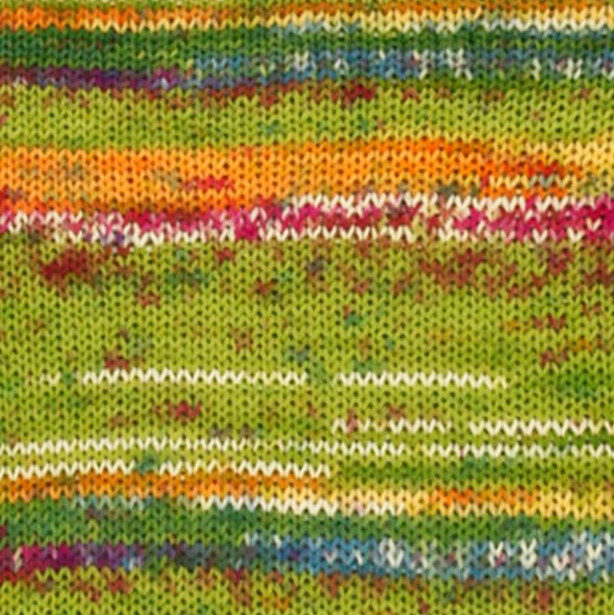 Пряжа носочная DROPS Fabel, цвет 151 Guacamole Print