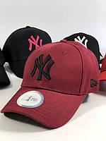 Крутая женская кепка  New York Yankees бордо (реплика), фото 1
