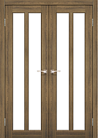 Дверь TORINO  TR-05. Со стеклом сатин (дуб браш, ясень белый, эш-вайт). KORFAD