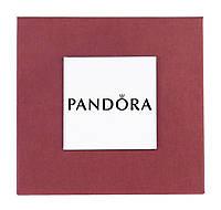 Бордовая подарочная коробочка Pandora для наручных часов и браслетов
