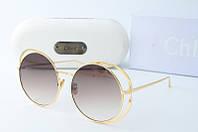 Солнцезащитные очки Chloe круглые коричневые