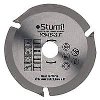 Диск для УШМ по дереву 125x22.2x4мм STURM 9020-125-22-3T