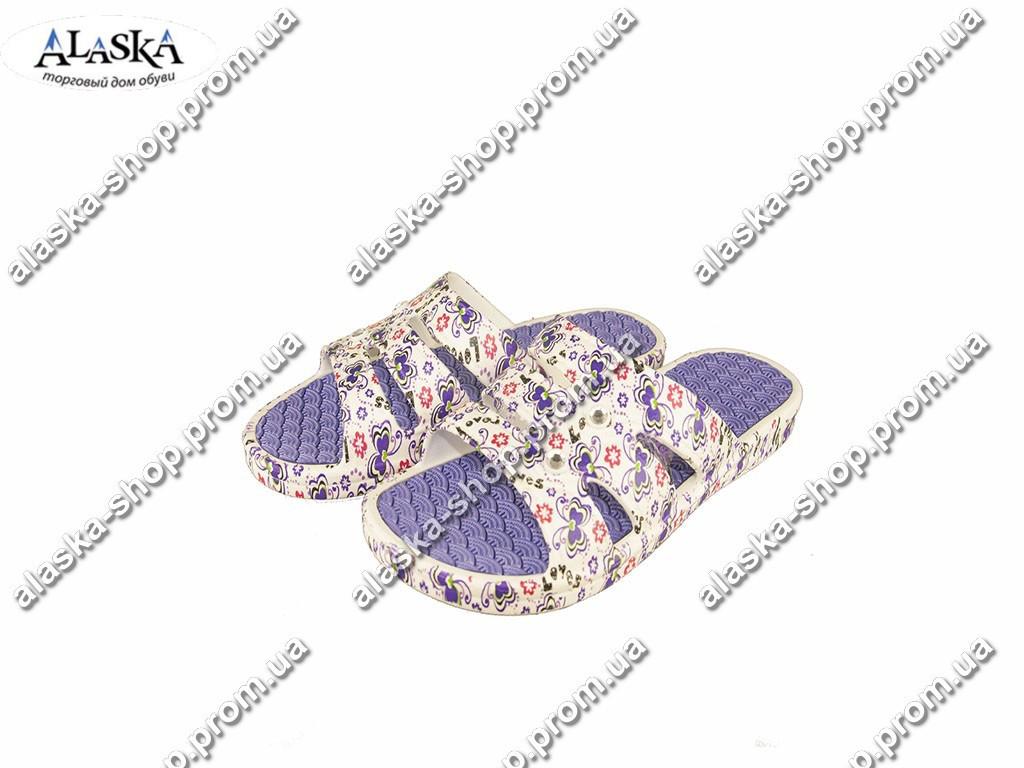 Подростковые шлепанцы  (Код: С-46 Крок фиолет )