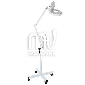 Лампа-лупа с люминисцентной подсветкой на штативе 5X диоптрий 120 мм диаметр