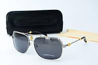 Солнцезащитные очки Chrome Hearts черные в стальной оправе, фото 1