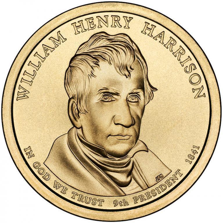 США 1 доллар 2009, 9 президент Уильям Гаррисон (1841)