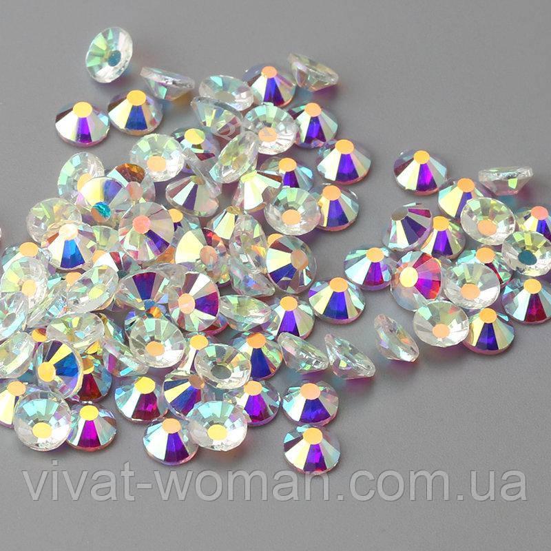 Стразы клеевые Crystal AB SS16 (3,8-4,0 мм). Цена за 144 шт