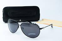 Солнцезащитные очки Chrome Hearts черные , фото 1