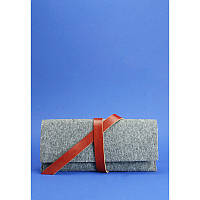 Тревел-кейс 1.0 фетр + кожа коньяк, фото 1