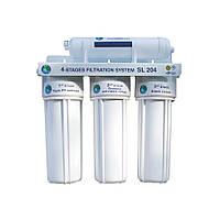 Система 4-х ступенчатой очистки Bio+ systems SL204-NEW c краником на мойку