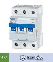 Автоматический выключатель Doepke DLS 6h B25-3 (тип B, 3пол., 25 А, 6 кА), dp09914115