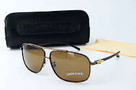 Солнцезащитные очки Chrome Hearts корчневые, фото 1