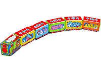Развивающий Веселый поезд на липучках, цифры, животные, счёт, 003345