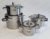 Набор посуды Krauff 26-202-011 Modern Schwarz 8 предметов