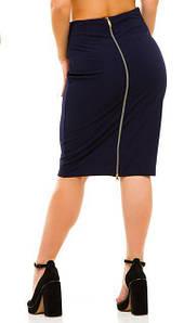 """Юбка """"Lu-boutique"""": большие размеры, черный,т.синий,бордо"""