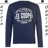 Кофта Lee Cooper флисовая темносиняя | Кофта Lee Cooper флісова темносиня