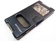 Чехол книжка с окошками momax для Sony Xperia Z5 e6603 / e6633 черный.