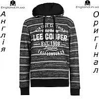 Кофта-худи Lee Cooper флисовая коричневая | Кофта-худі Lee Cooper флісова коричнева
