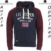 Кофта-худи Lee Cooper флисовая темносиняя | Кофта-худі Lee Cooper флісова темносиня