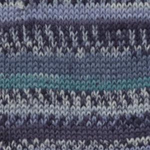 Пряжа носочная DROPS Fabel, цвет 522 Turquoise/Blue Print